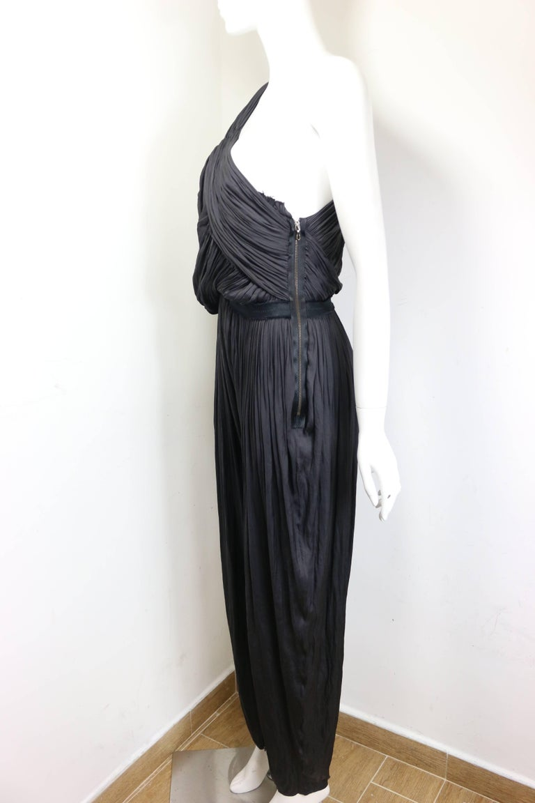 Lanvin Black Silk Jumpsuit For Sale 1