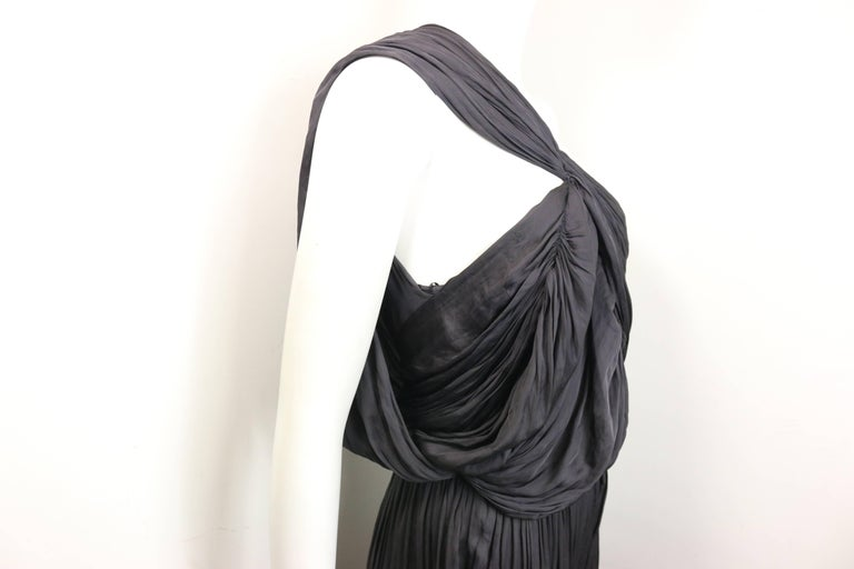 Lanvin Black Silk Jumpsuit In Excellent Condition For Sale In Sheung Wan, HK