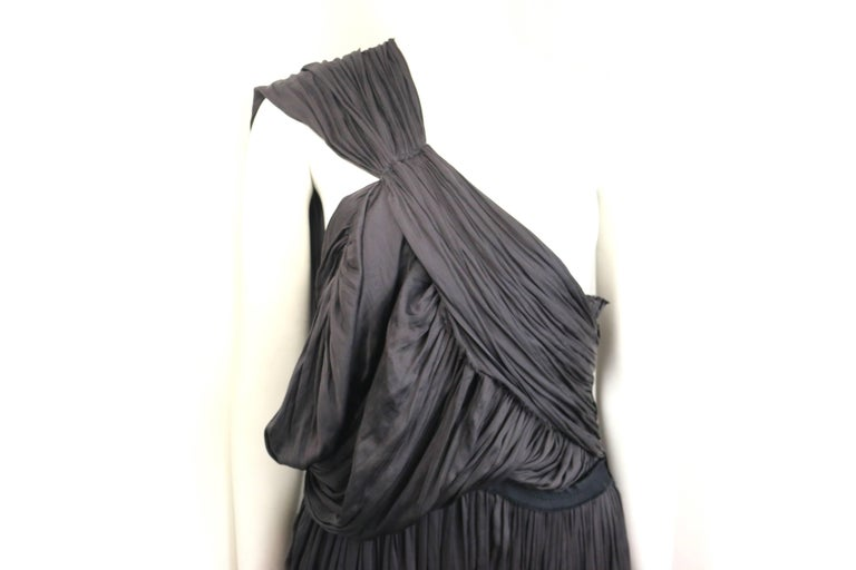 Lanvin Black Silk Jumpsuit For Sale 2