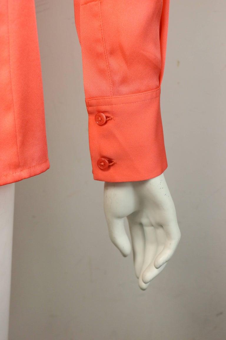 Ports Orange Silk Button Shirt  For Sale 1