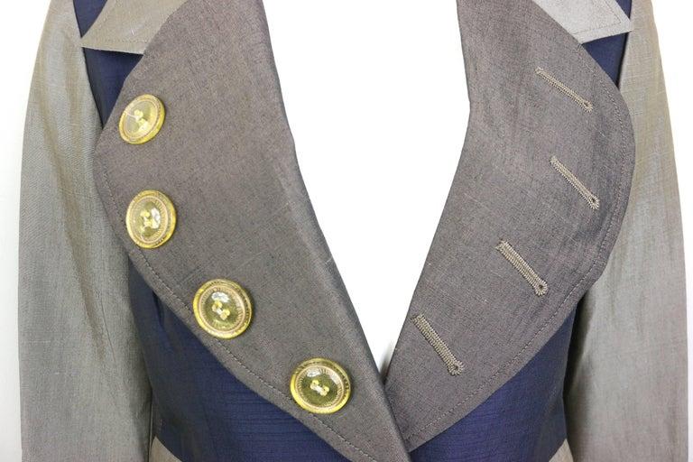 Gray Christian Lacroix Colour Blocked Jacket For Sale