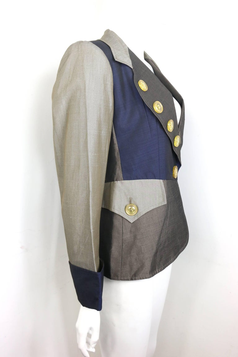 Christian Lacroix Colour Blocked Jacket In Excellent Condition For Sale In Sheung Wan, HK