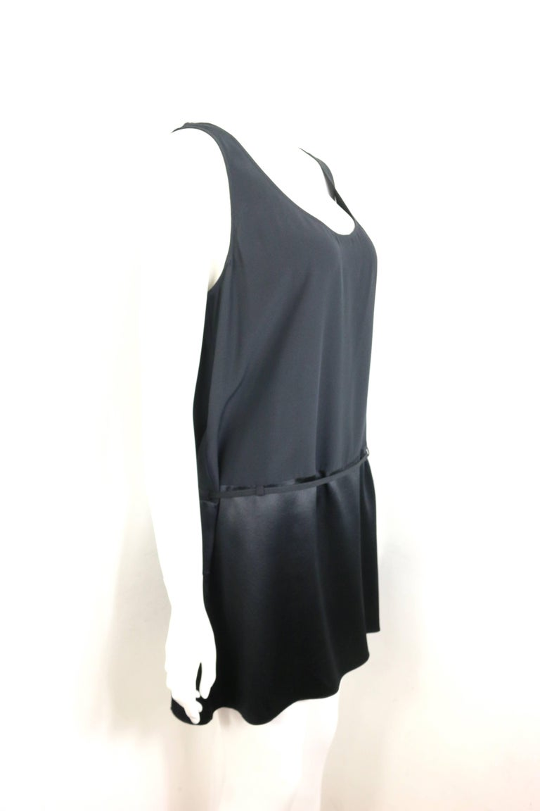 Chanel Black Silk Sleeveless Round Neck Tunic  In Excellent Condition For Sale In Sheung Wan, HK