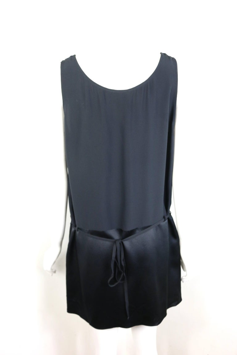 Chanel Black Silk Sleeveless Round Neck Tunic  For Sale 1
