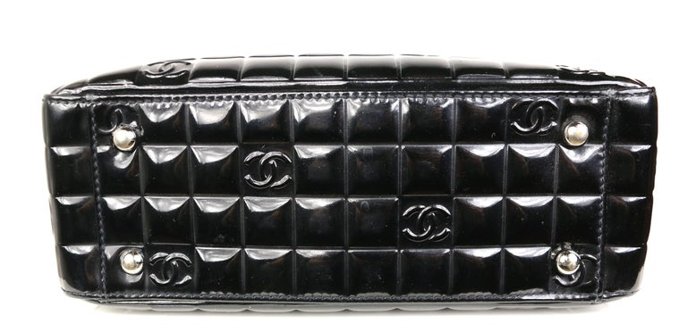 Chanel Black Patent Leather Check
