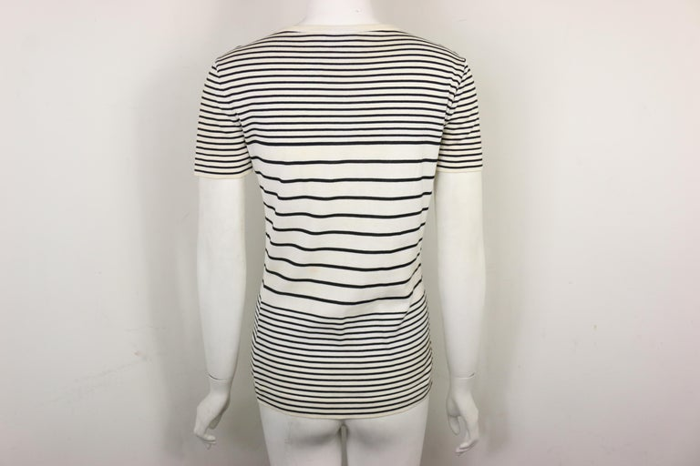 Chanel Cotton Black and White Stripe