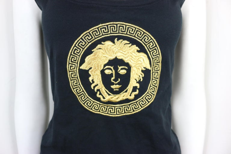 - Vintage 1995 Gianni Versace Mare embroidered gold