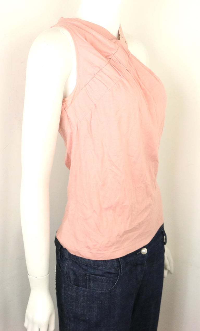 Orange Dior Cotton Pink Tank Top  For Sale