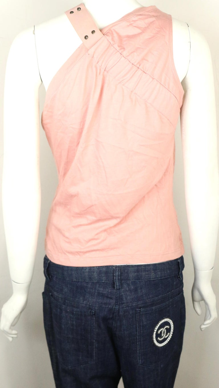 Women's Dior Cotton Pink Tank Top  For Sale