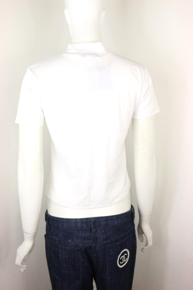 Gianni Versace Jeans Couture White Cotton