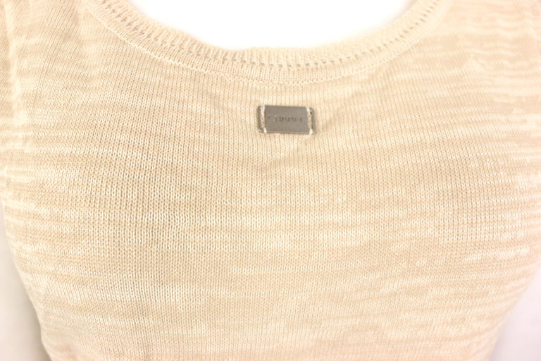 Women's Chanel Beige Cotton Knitted Tank Top For Sale