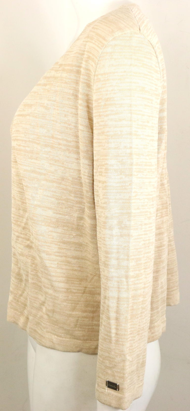 Women's Chanel Beige Cotton and Rayon Cardigan  For Sale