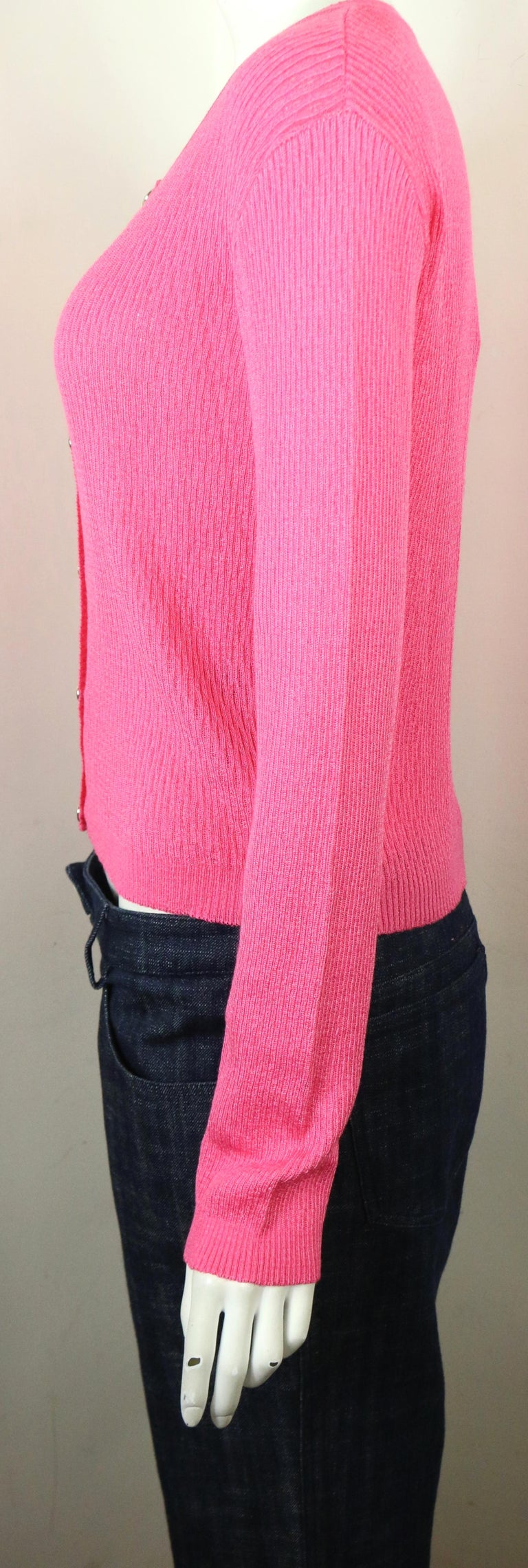 Gianni Versace Jeans Couture Pink Knitted Cardigan  For Sale 1