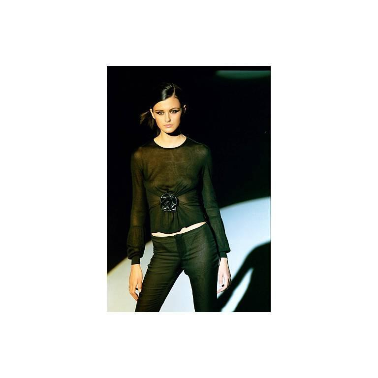 Free Shipping: Tom Ford Gucci FW1999 Runway Silk Sweater & Ruched Velvet Pants! 4