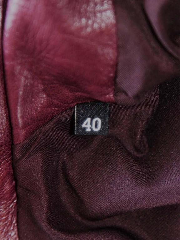The Dreamiest Tom Ford Gucci FW 2003 Maroon Red Leather Corseted Moto Jacket! 8