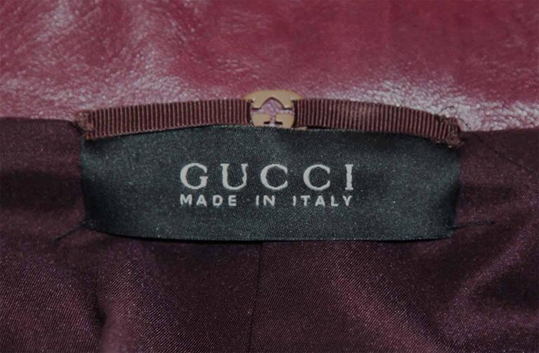 The Dreamiest Tom Ford Gucci FW 2003 Maroon Red Leather Corseted Moto Jacket! 7