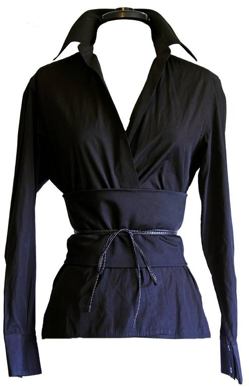 Free Shipping: Tom Ford Gucci FW 2002 Silk Shirt & Obi Belt In Italian Size 44! 2