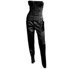 Free Shipping: Tom Ford Gucci SS 2001 Black Strapless Silk Corset Top & Pants!