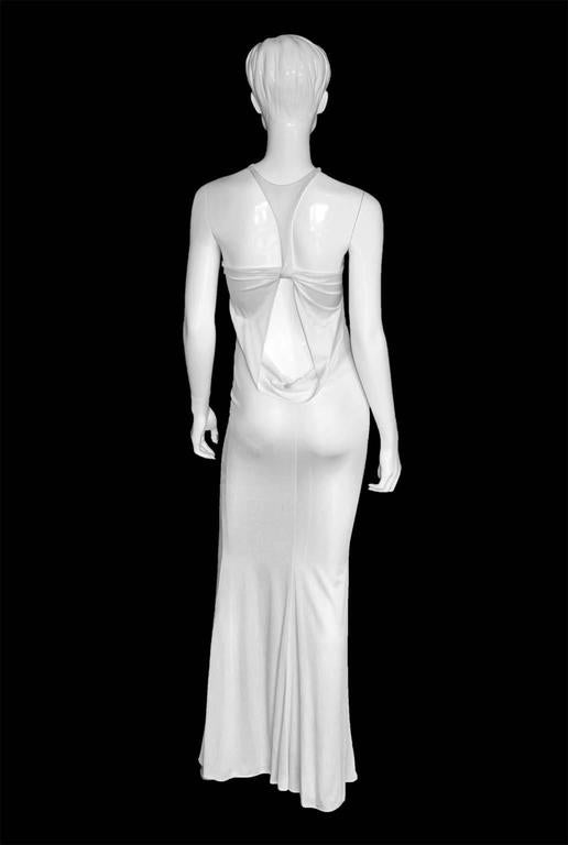 Robin Wright Penn's Heavenly Tom Ford Gucci FW 2004 Collection White Gown! IT 38 3