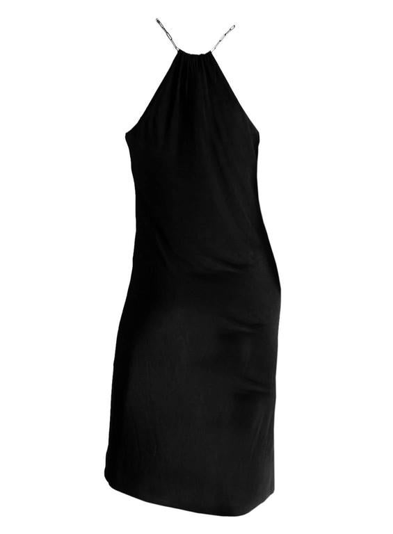 Free Shipping:Rare & Iconic Tom Ford For Gucci SS2000 Black Jersey Runway Dress! 2