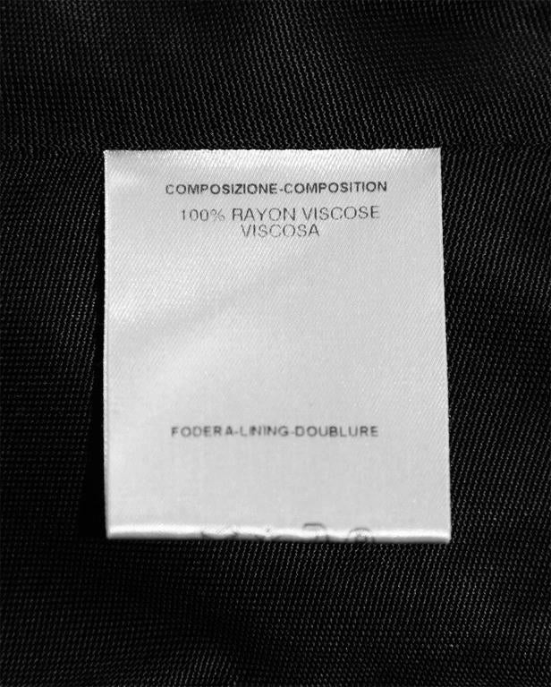 Free Shipping:Rare & Iconic Tom Ford For Gucci SS2000 Black Jersey Runway Dress! 6