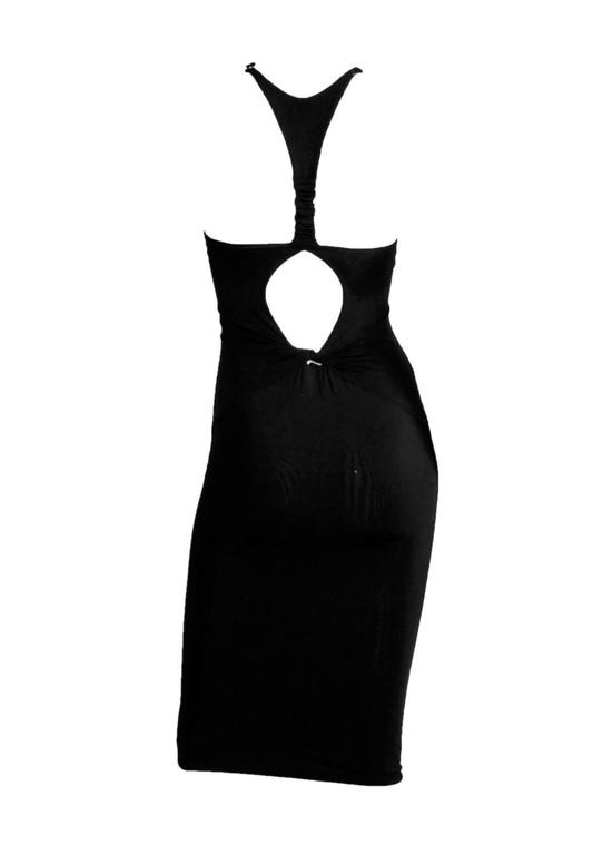 Robin Wright Penn's Heavenly Tom Ford Gucci FW 2004 Collection Black Dress! XS 2