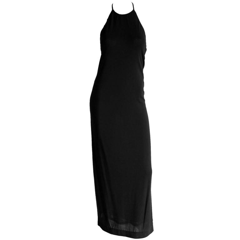That Rare & Iconic Tom Ford For Gucci FW 1997 Black Backless Maxi Dress! IT42 1