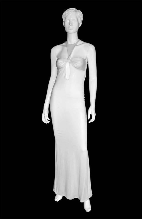 Robin Wright Penn's Heavenly Tom Ford Gucci FW 2004 Collection White Gown! IT 40 2