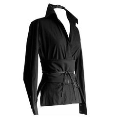 That Gorgeous Tom Ford Gucci FW 2002 Silk Shirt & Obi Belt In Italian Size 42!