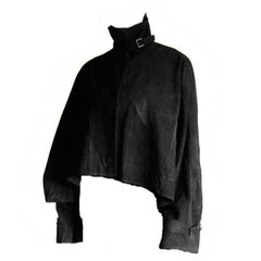 "Rare Tom Ford Gucci FW 2002 Black Suede Leather Gothic ""Batwing"" Runway Jacket!"