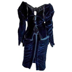 Scrumptious Tom Ford YSL FW 2002 Silk Runway & Ad Campaign Jacket & Skirt! FR 44