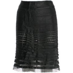 The Most Absolutely Scrumptious Tom Ford SS 2012 Black Tulle Pencil Skirt! IT 40