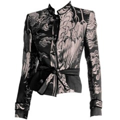 Sublime Tom Ford YSL FW 2004 Silk Chinoiserie Runway & Ad Campaign Jacket! FR 34
