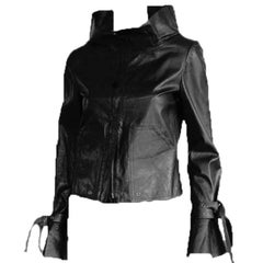 "Incredibly Rare Tom Ford Gucci SS 2003 Black Leather Runway ""Bondage"" Jacket! 40"