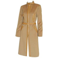 That Heavenly Tom Ford Gucci FW 2001 Collection Camel Wool Cashmere Coat! IT 44