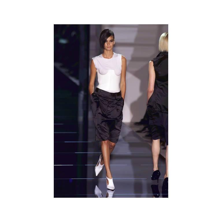 Iconic Tom Ford Gucci 2001 Runway Collection White Leather Under-bodice Corset! 5