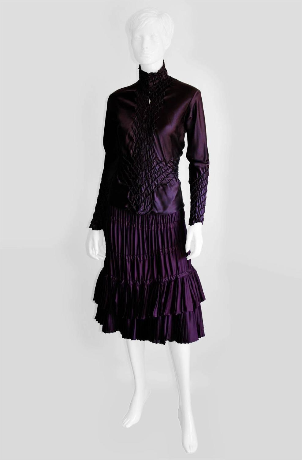Ysl Purple Peasant Blouse 84