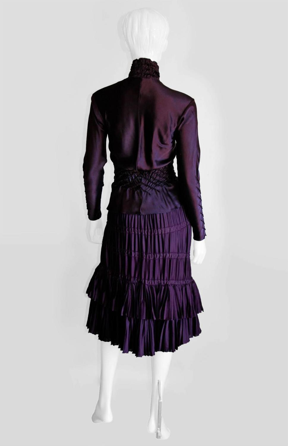 Ysl Purple Peasant Blouse 117