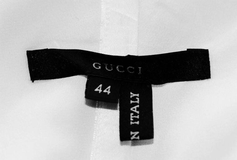 That Iconic Tom Ford Gucci SS 2001 White Silk Corset Runway Dress In Italian 44! 8
