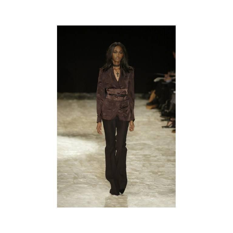 That Rare & Iconic Tom Ford Gucci FW 2002 Silk Kimono Jacket, Pants & Obi! 42 4