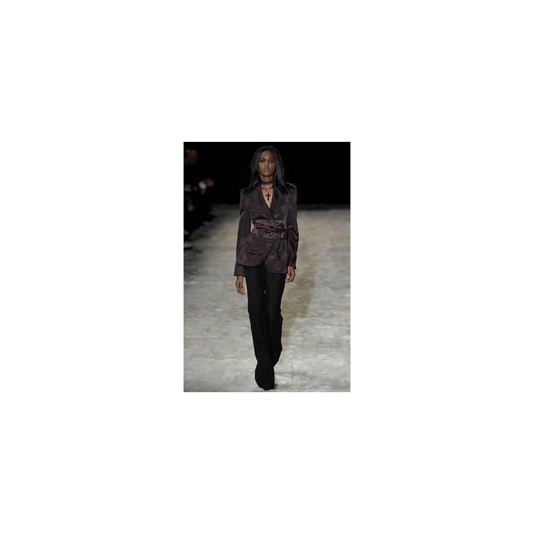 That Rare & Iconic Tom Ford Gucci FW 2002 Silk Kimono Jacket, Pants & Obi! 42 5