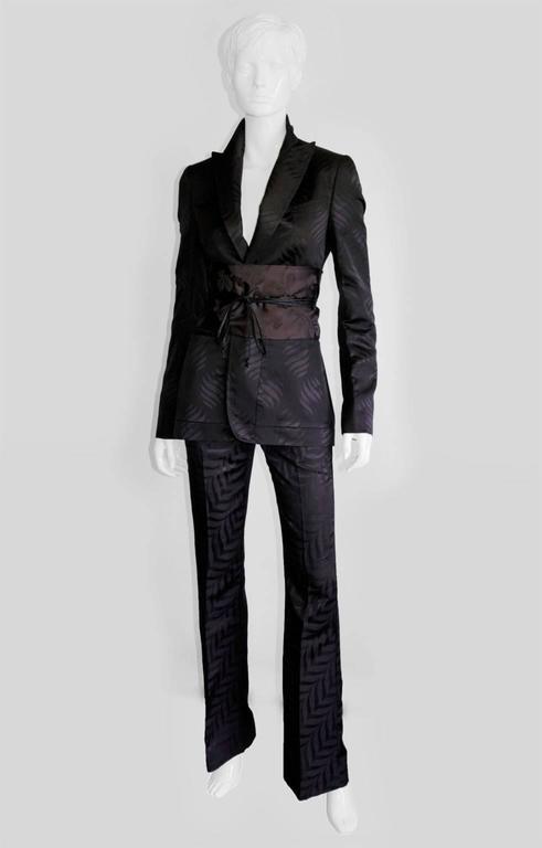 That Rare & Iconic Tom Ford Gucci FW 2002 Silk Kimono Jacket, Pants & Obi! 42 2