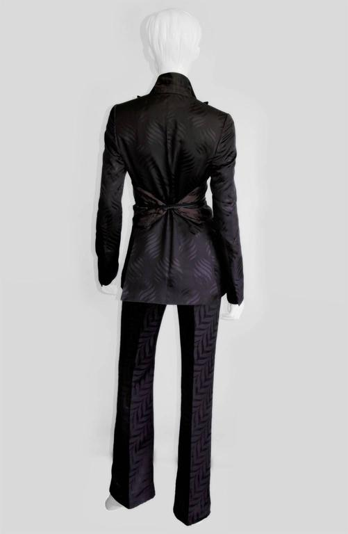 That Rare & Iconic Tom Ford Gucci FW 2002 Silk Kimono Jacket, Pants & Obi! 42 3