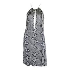 Free Shipping:Rare & Iconic Tom Ford For Gucci SS2000 Python Print Runway Dress!