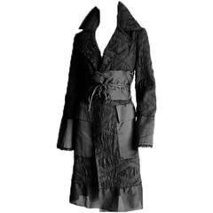 Incredibly Rare Rare Tom Ford Gucci FW 2002 Runway Collection Kimono Coat & Obi!