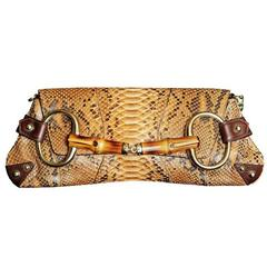 That Incredible Brown Python Tom Ford For Gucci SS 2002 Collection Horsebit Bag!