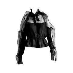 Rare & Iconic Tom Ford YSL Rive Gauche FW 2001 Backless Silk Runway Blouse!