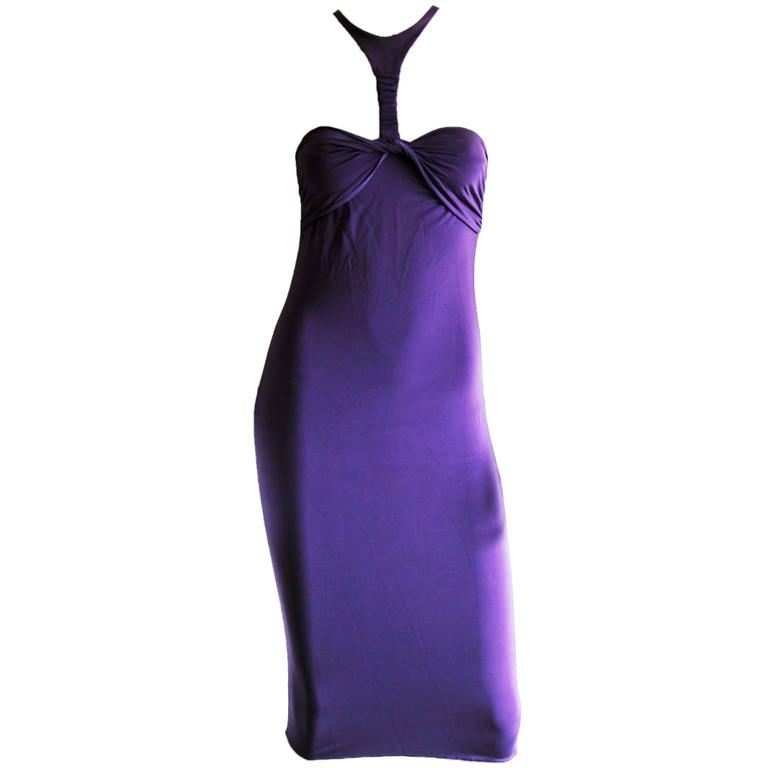 Robin Wright Penn's Iconic Tom Ford Gucci FW 2004 Collection Dress In Purple! L 1