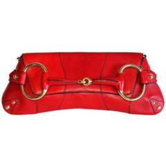 That Ridiculously Chic Tom Ford Gucci SS 2004 Red Studded Leather Horsebit Bag!