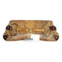 That Ridiculously Chic Tom Ford Gucci SS 2004 Brown Python Leather Horsebit Bag!